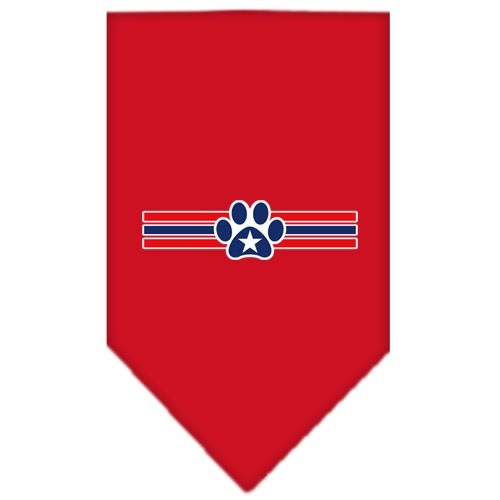 Patriotic Star Paw Screen Print Dog Bandana - Red | The Pet Boutique