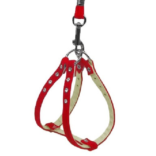 Velvet Step-In Dog Harness - Red | The Pet Boutique