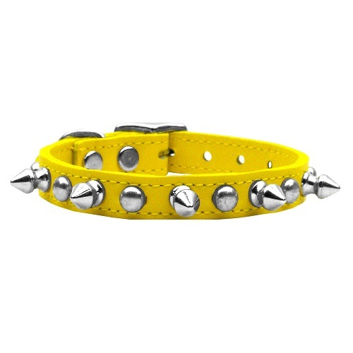 Chaser Leather Dog Collar - Yellow | The Pet Boutique