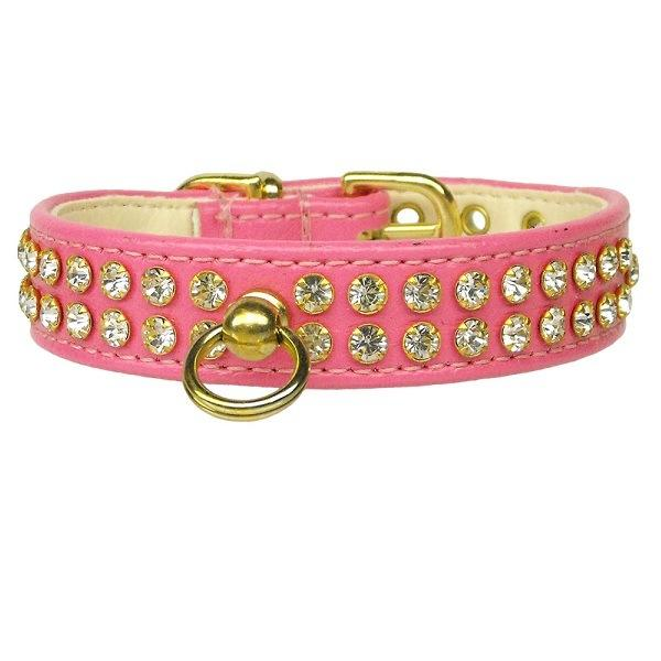 Clear Crystal #72 Dog Collar - Pink | The Pet Boutique