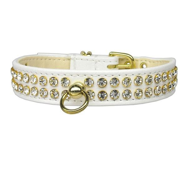 Clear Crystal #72 Dog Collar - White | The Pet Boutique