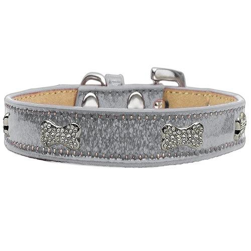 Ice Cream Crystal Bone Dog Collar - Silver | The Pet Boutique