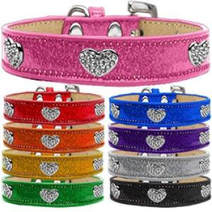 Ice Cream Crystal Heart Dog Collar   The Pet Boutique