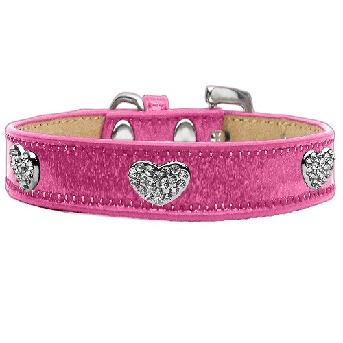Ice Cream Crystal Heart Dog Collar - Pink   The Pet Boutique