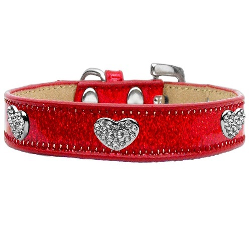 Ice Cream Crystal Heart Dog Collar - Red   The Pet Boutique