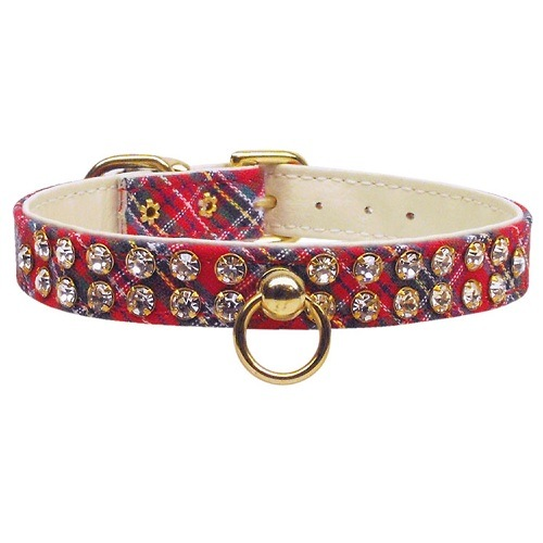 Plaid Dog Collar #31 - Red | The Pet Boutique