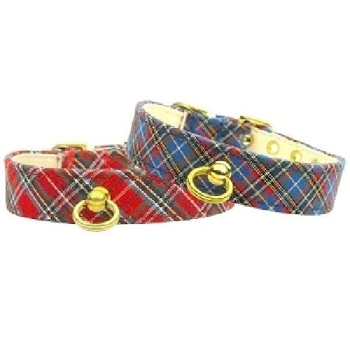 Plain Plaid Dog Collar #70   The Pet Boutique