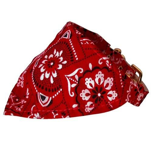 Red Western Bandana Collar   The Pet Boutique