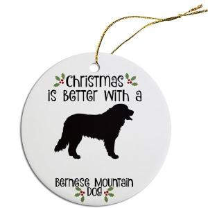 Round Christmas Ornament - Bernese Mountain Dog   The Pet Boutique