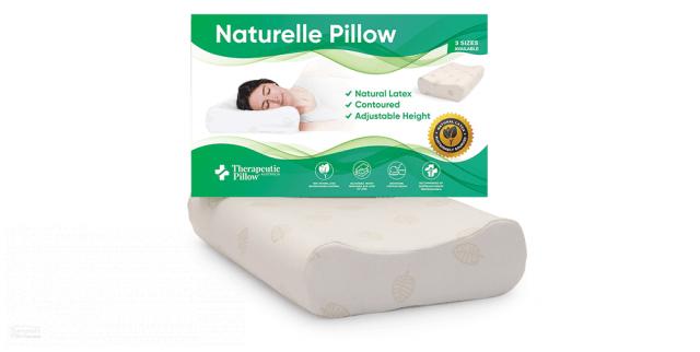 naturelle latex pillow contoured adjustable 3 size options