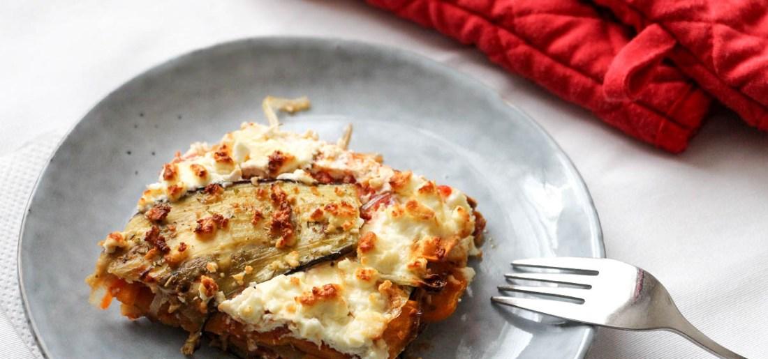 Lasagne végétarienne patate douce aubergine