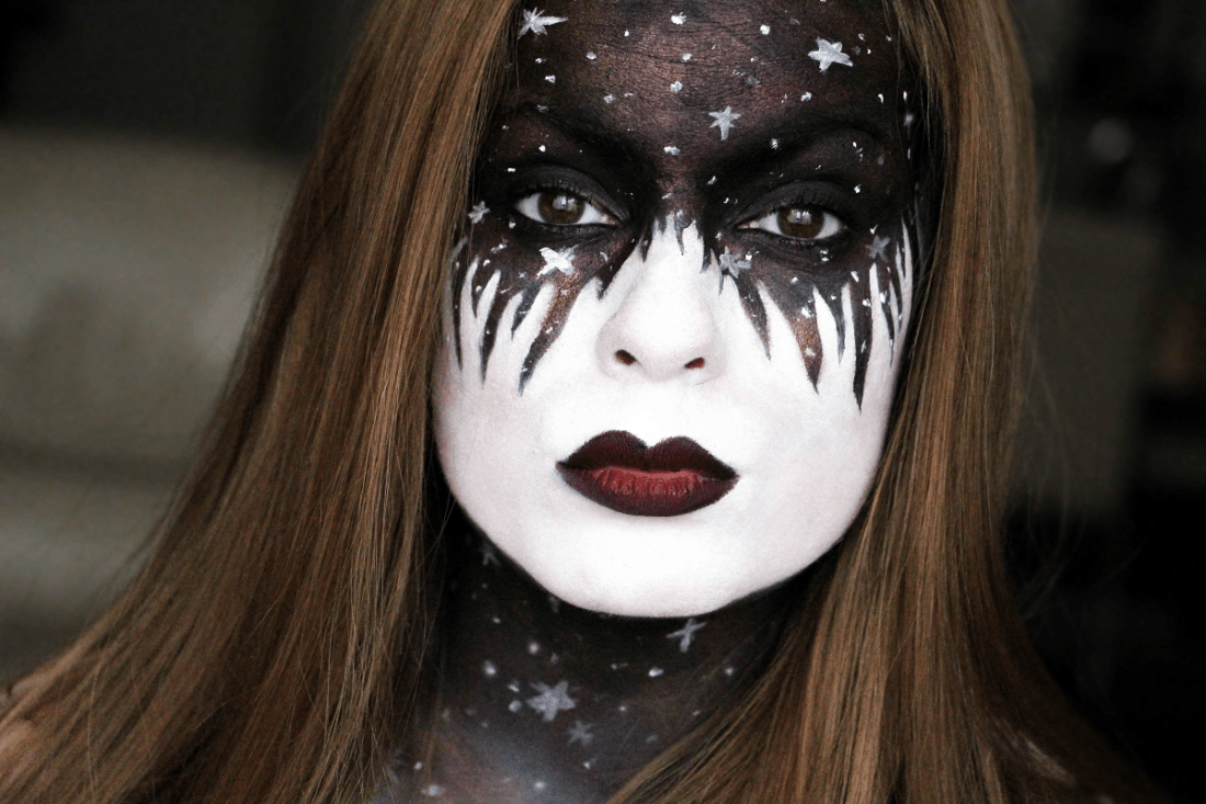 Maquillage Halloween Etoiles Galaxie