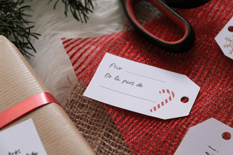 Etiquettes à imprimer pour Noël