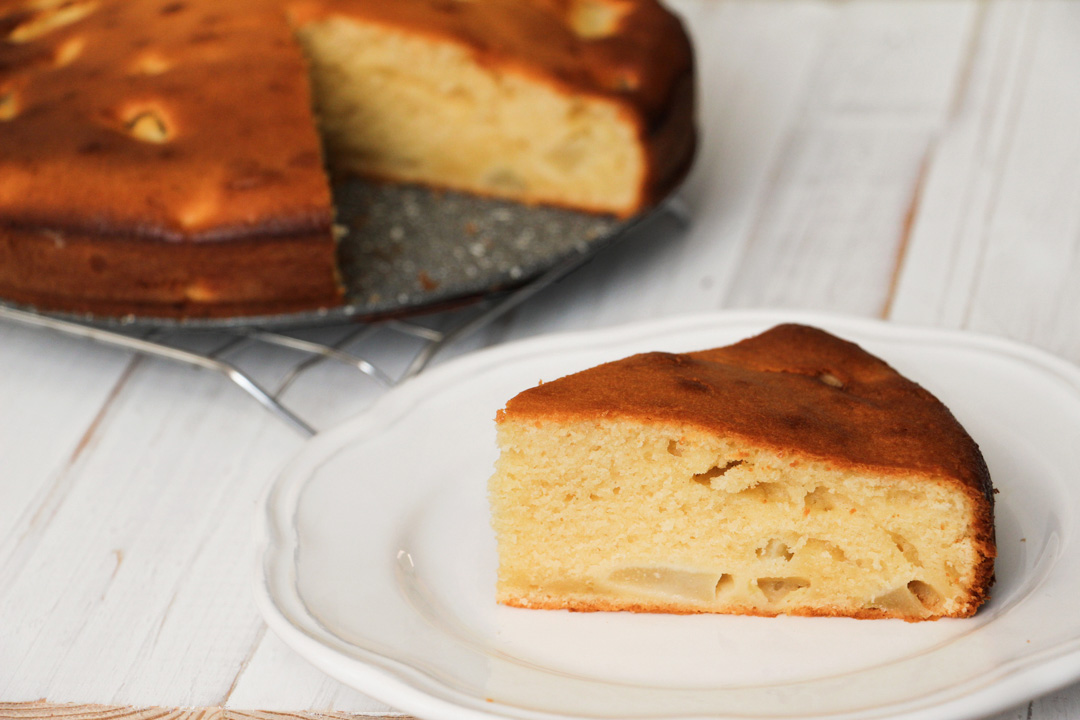 cake yaourt poire amande