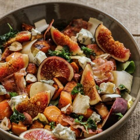 Salade gourmande d'automne