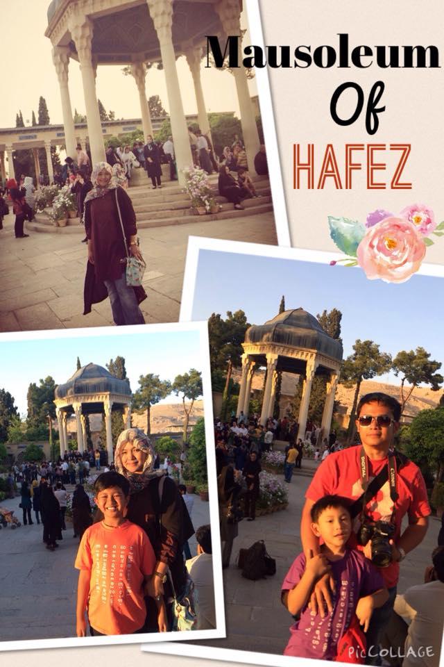 Mausoleum Hafez. Seorang pujangga dan juga penghafal Al Quran dari kota Shiraz.