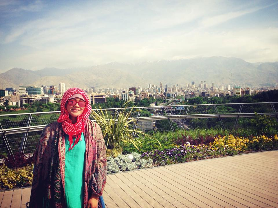 Kota Tehran dipandang dari Nature Bridge