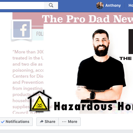 Hazardous Home Products Campaign Facebook