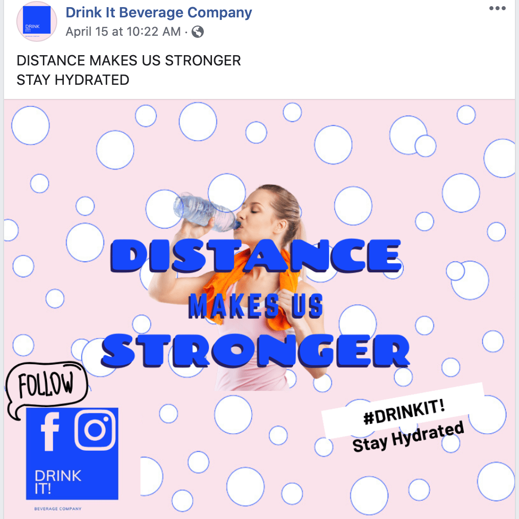Drink It! Beverage Campaign Instagram Post Stay Hydrated