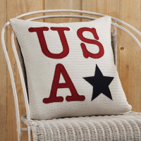 USA Applique Pillow by VHC Brands