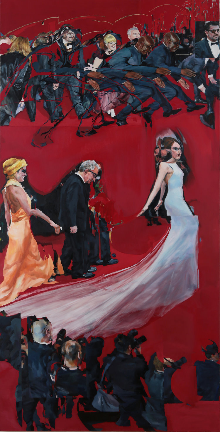 Inaguration_2016, oil on canvas, panel 2 36 x 72