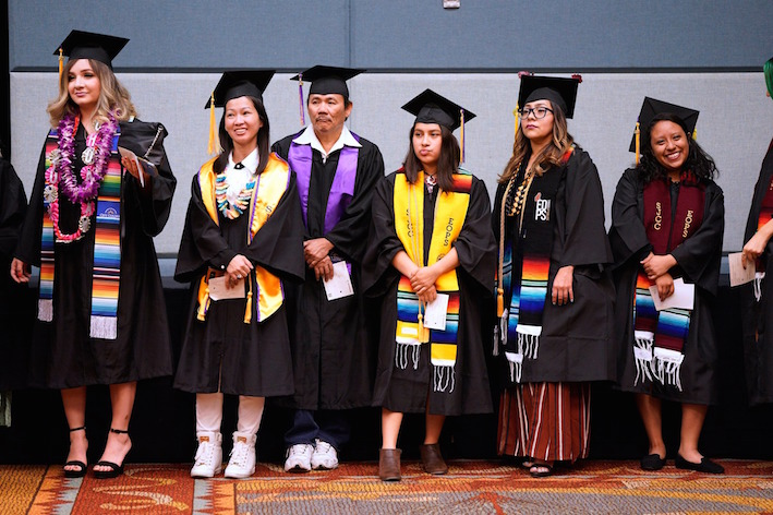 San José City College students wait at the Commencement Ceremony in 2019.