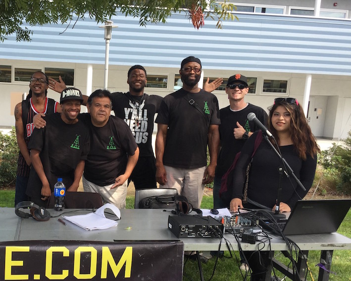 San José City College broadcasting students at an event in 2016.