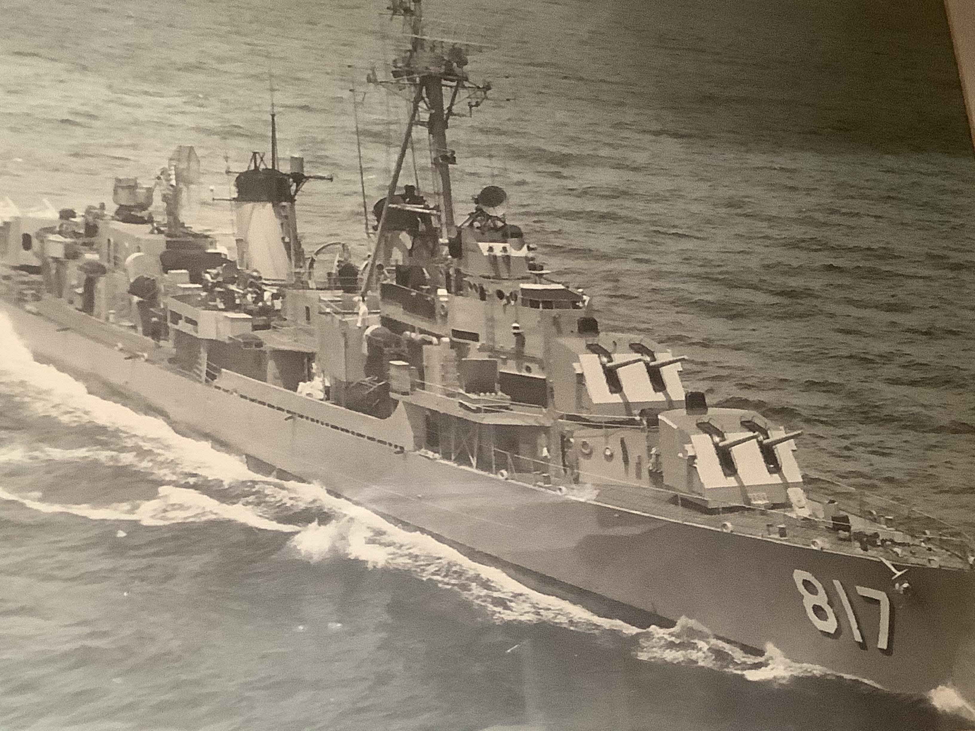 Hunter was a crewmember aboard a U.S. Navy Destroyer
