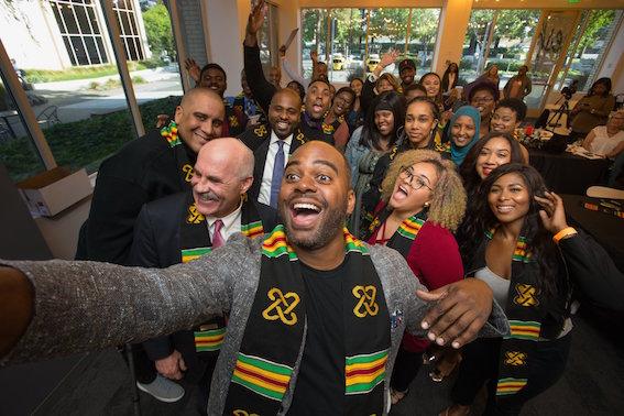 San José City College's African American Graduation Celebration at the eBay Newsroom in 2018. Photo Credit: Jonathan Knox.