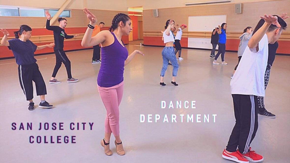 Dance program rehearsal