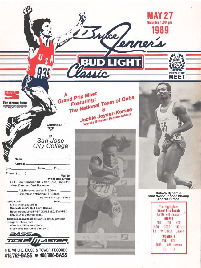 Bruce Jenner Classic - 1989 program
