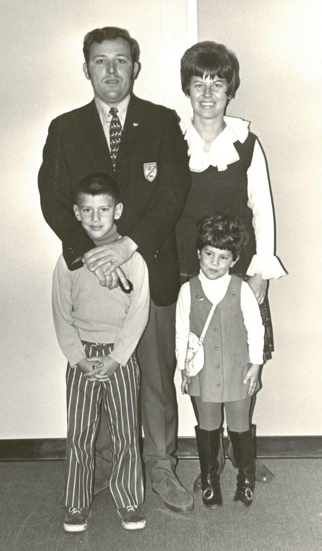 Bonanno, his wife Betty, and children