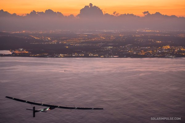 The SolarImpulse settled a stunning record of 8200km non-stop flight from Nagoya to Kalealoa (photo: SolarImpulse)