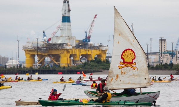 After years of protest and public outrage, Shell put its Arctic explorations on a hold (photo: David Ryder/Getty Images)