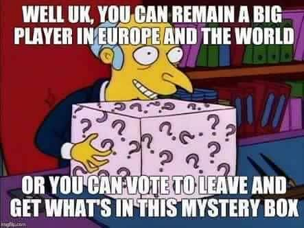 In the end, we can only guess what the Brexit will bring
