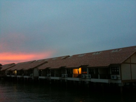 Port Dickson, Malaysia, legend water chalets, international water homes