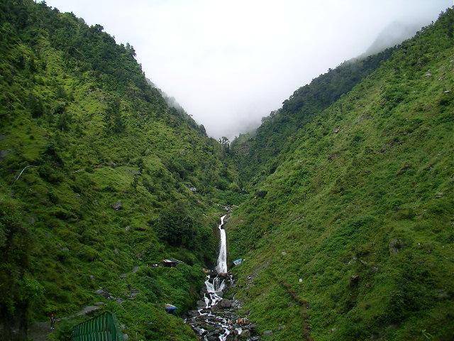 Mcleodganj, dharamsala, himalayas, bhagsu waterfall