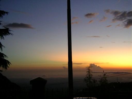 Mcleodganj, dharamsala, sunset