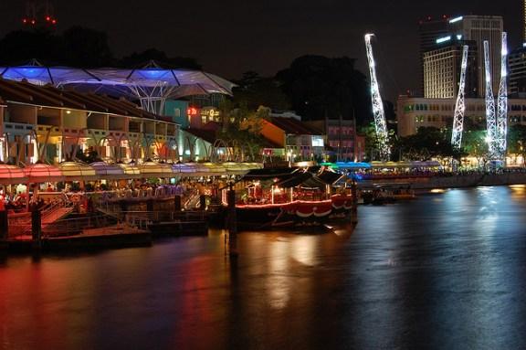 clarke quay photos, clark quey, Singapore free places to visit