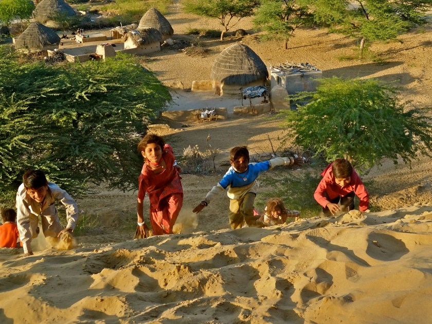 Rajasthan desert, Rajasthan sand dunes, Thar desert India, Rajasthan village
