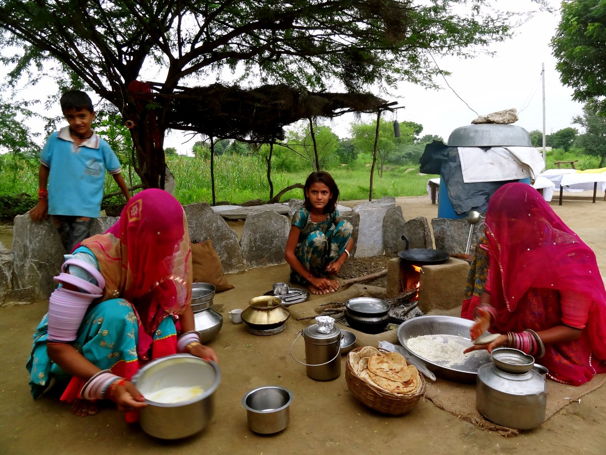 Rajasthan Raika, Rajasthan village, Rajasthani food