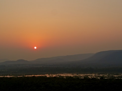 Madhya pradesh sunset, panna sunset, panna national park
