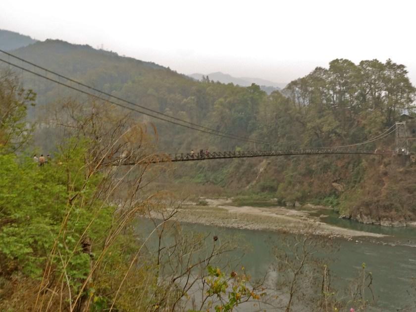 Rangeet river, suspension bridge
