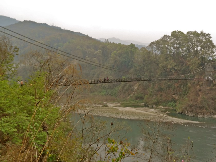 Rangeet river, suspension bridge