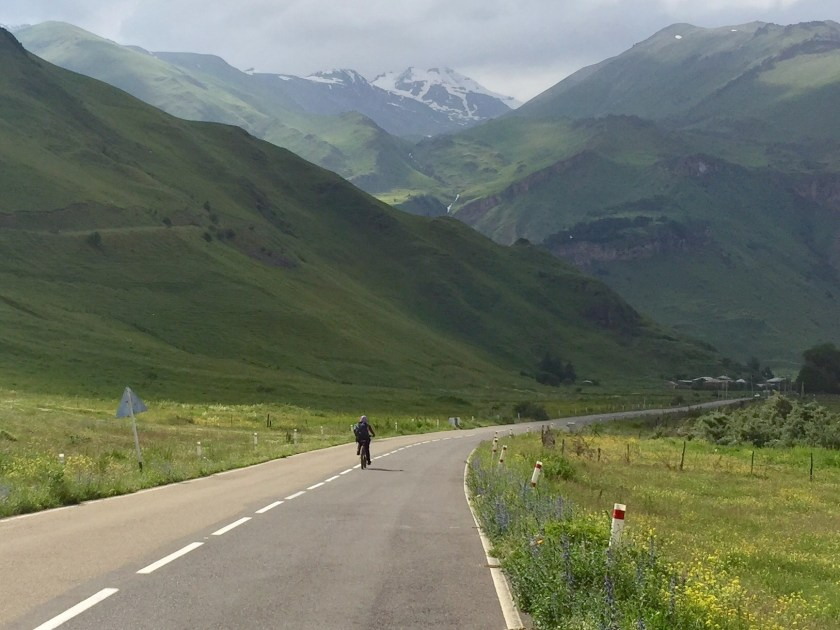 georgia country cycling, stepantsminda cycling, caucasus cycling