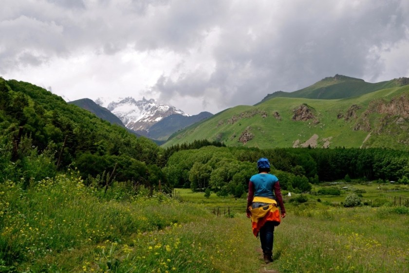 Georgia travel, caucasus mountains, saving money for travel