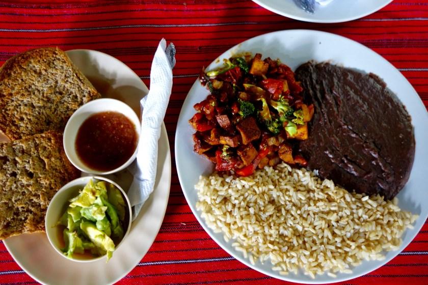 guatemalan breakfast, vegan guatemala, vegan central america