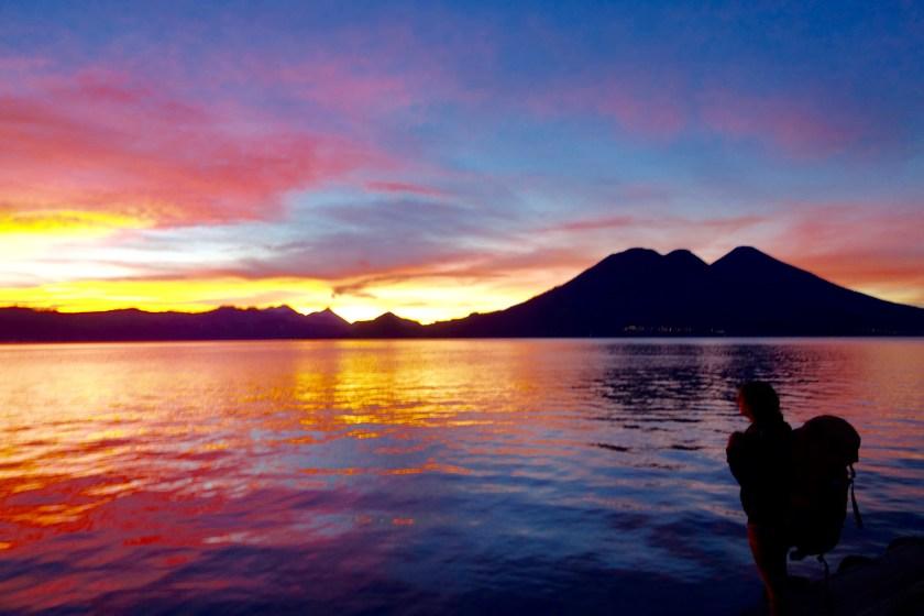sunrise lake atitlan, sunrise guatemala, shivya nath travel blog