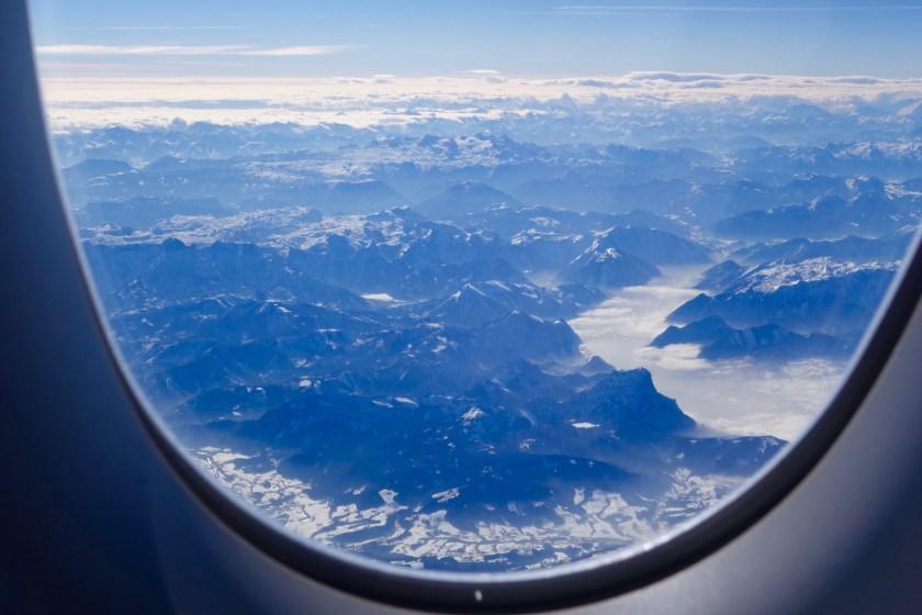 Lufthansa A350, munich to delhi lufthansa, german alps