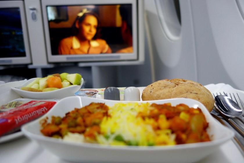 Lufthansa A350, lufthansa meals, lufthansa business class